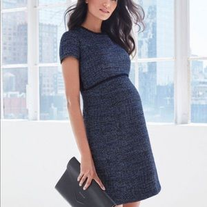 Seraphine Kiara A-line Tweed Maternity Dress